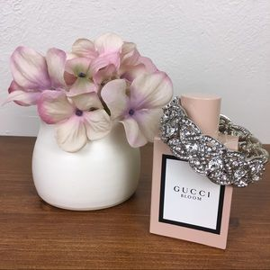 Jewelry - Elastic Faux Diamond Studded Silver Bracelet